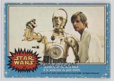 1977 O-Pee-Chee Star Wars - [Base] #19 - Searching For The Little Droid