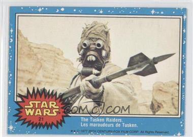 1977 O-Pee-Chee Star Wars - [Base] #21 - The Tusken Raiders