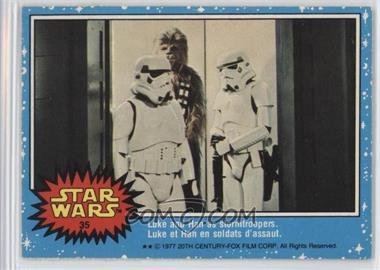 1977 O-Pee-Chee Star Wars - [Base] #35 - Luke And Han As Stormtroopers.