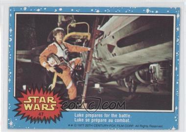 1977 O-Pee-Chee Star Wars - [Base] #47 - Luke Prepares For The Battle.
