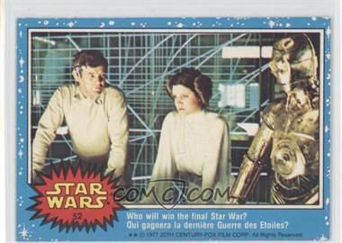 1977 O-Pee-Chee Star Wars - [Base] #52 - Who Will Win The Final Star War?