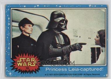 1977 Topps Star Wars - [Base] #10 - Princess Leia - Captured! [Good to VG‑EX]
