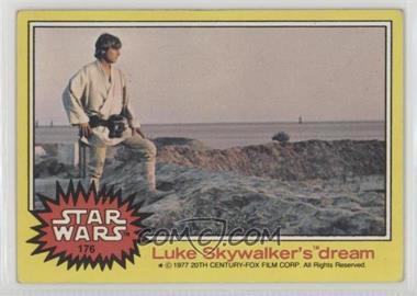 1977 Topps Star Wars - [Base] #176 - Luke Skywalker's Dream [GoodtoVG‑EX]