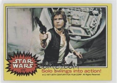1977 Topps Star Wars - [Base] #177 - Solo Swings into Action!
