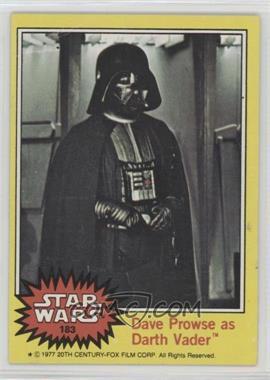 1977 Topps Star Wars - [Base] #183 - Dave Prowse as Darth Vader [GoodtoVG‑EX]