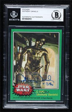 "1977 Topps Star Wars - [Base] #207.2 - C-3PO (Anthony Daniels) (""Goldenrod"" Variation) [BASCertifiedBASEncased]"