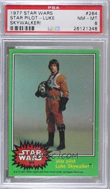 1977 Topps Star Wars - [Base] #264 - Star Pilot Luke Skywalker! [PSA8NM‑MT]