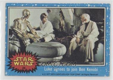 1977 Topps Star Wars - [Base] #28 - Luke Agrees to Join Ben Kenobi [Poor]