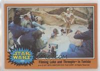 Filming Luke and Threepio in Tunisia