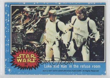 1977 Topps Star Wars - [Base] #38 - Luke and Han in the Refuse Room