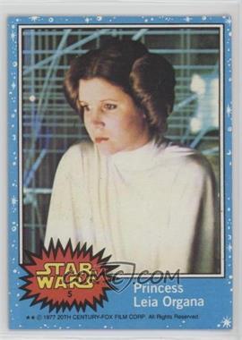 1977 Topps Star Wars - [Base] #5 - Princess Leia Organa