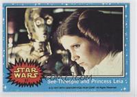 See-Threepio and Princess Leia