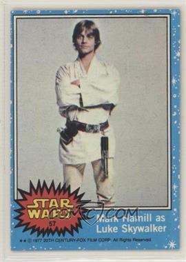 1977 Topps Star Wars - [Base] #57 - Mark Hamill as Luke Skywalker