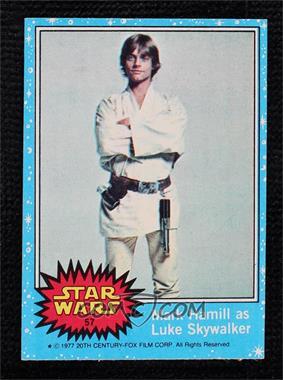 1977 Topps Star Wars - [Base] #57 - Mark Hamill as Luke Skywalker [NearMint‑Mint]