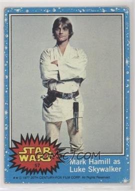 1977 Topps Star Wars - [Base] #57 - Mark Hamill as Luke Skywalker [GoodtoVG‑EX]
