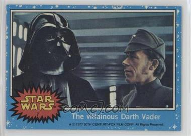 1977 Topps Star Wars - [Base] #7 - The Villainous Darth Vader