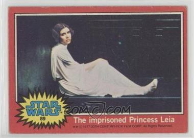 1977 Topps Star Wars - [Base] #89 - The Imprisioned Princess Leia [GoodtoVG‑EX]