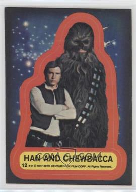1977 Topps Star Wars - Stickers #12 - Han and Chewbacca