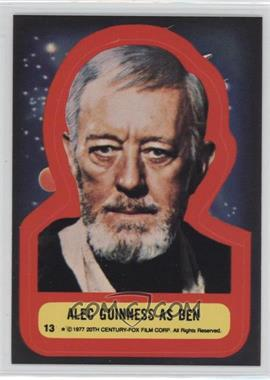 1977 Topps Star Wars - Stickers #13 - Alec Guinness as Ben