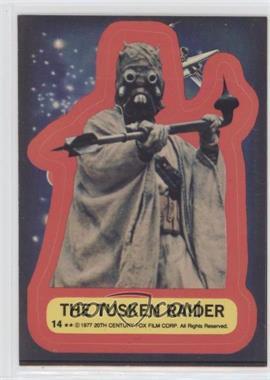 1977 Topps Star Wars - Stickers #14 - The Tusken Raider