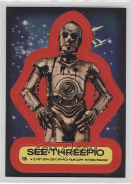 1977 Topps Star Wars - Stickers #15 - See-Threepio