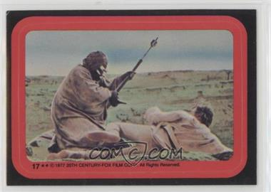 1977 Topps Star Wars - Stickers #17 - Tusken Raider Attacks Luke