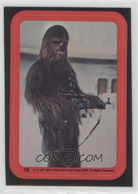 1977 Topps Star Wars - Stickers #19 - Chewbacca