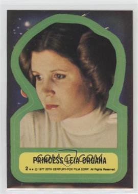 1977 Topps Star Wars - Stickers #2 - Princess Leia Organa