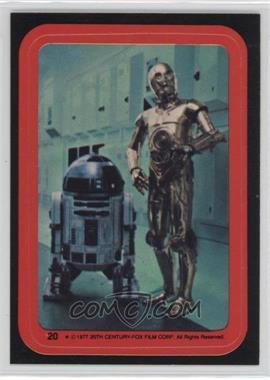 1977 Topps Star Wars - Stickers #20 - C-3PO, R2-D2