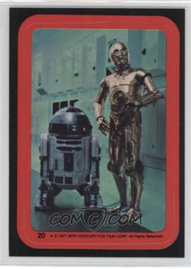 1977 Topps Star Wars - Stickers #20 - C-3PO, R2-D2