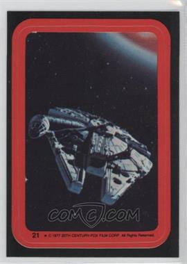 1977 Topps Star Wars - Stickers #21 - Millenium Falcon