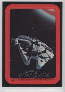 1977 Topps Star Wars - Stickers #21 - Millenium Falcon