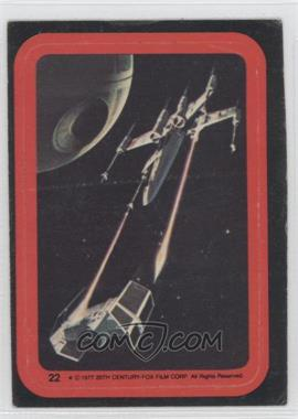 1977 Topps Star Wars - Stickers #22 - X-Wing, Tie Fighter