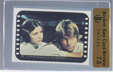 1977 Topps Star Wars - Stickers #31 - Luke and Leia
