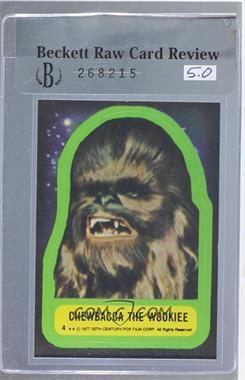 1977 Topps Star Wars - Stickers #4 - Chewbacca the Wookiee