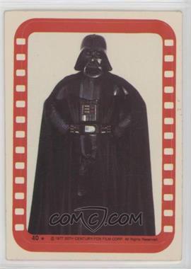 1977 Topps Star Wars - Stickers #40 - Lord Darth Vader [GoodtoVG‑EX]