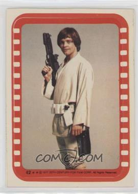 1977 Topps Star Wars - Stickers #42 - Luke Skywalker