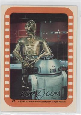 1977 Topps Star Wars - Stickers #47 - See-Threepio and Artoo-Detoo