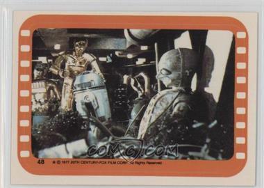 1977 Topps Star Wars - Stickers #48 - Inside the Sandcrawler