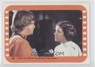 1977 Topps Star Wars - Stickers #54 - Luke Skywalker and Princess Leia