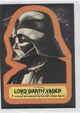 1977 Topps Star Wars - Stickers #7 - Lord Darth Vader