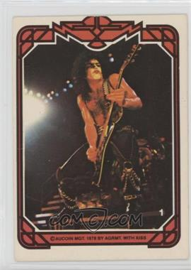 1978 Donruss Kiss Series 1 - [Base] #1 - Paul Stanley [Good to VG‑EX]