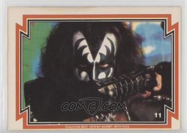 1978 Donruss Kiss Series 1 - [Base] #11 - Gene Simmons [Good to VG‑EX]