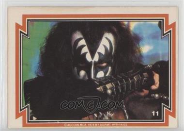 1978 Donruss Kiss Series 1 - [Base] #11 - Gene Simmons [GoodtoVG‑EX]