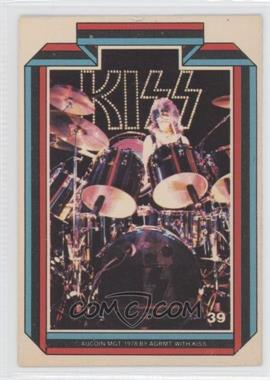 1978 Donruss Kiss Series 1 - [Base] #39 - Peter Criss [Good to VG‑EX]