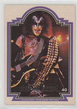 1978 Donruss Kiss Series 1 - [Base] #40 - Gene Simmons [GoodtoVG‑EX]