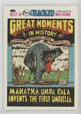 1978 Fleer Best of Cracked Magazine - [Base] #49 - Mahatman Umba Rala Invents