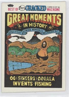 1978 Fleer Best of Cracked Magazine - [Base] #51 - OG (Fingers) Oogala Invents Fishing