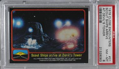 1978 Topps Close Encounters of the Third Kind - [Base] #21 - Scout Ship Arrive at Devil's Tower [PSA 8 NM‑MT]