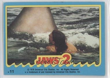 1978 Topps Jaws 2 - Stickers #11 - Jaws 2